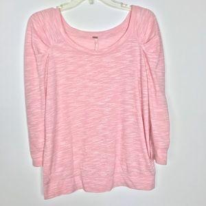 Free People pink shirt 👚 blouse size M/M